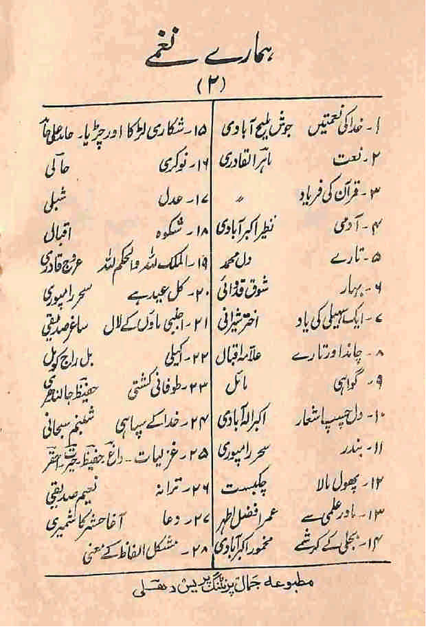 Urdu Islamic and Patriot Poems, Poetry, Islami Trane