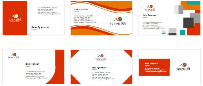 100+ contoh desain kartu nama keren siap pakai   Tutorial89