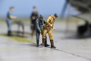 Figurine de la Luftwaffe WWII Revell au 1/48.