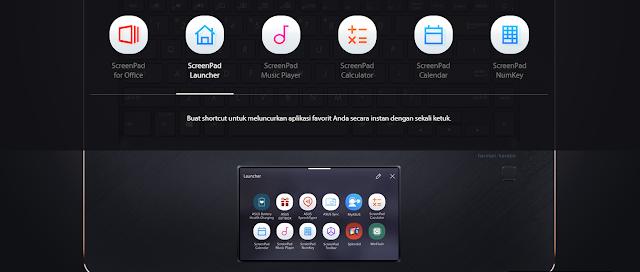 screenpad launcher ASUS ZenBook Pro 15 UX580