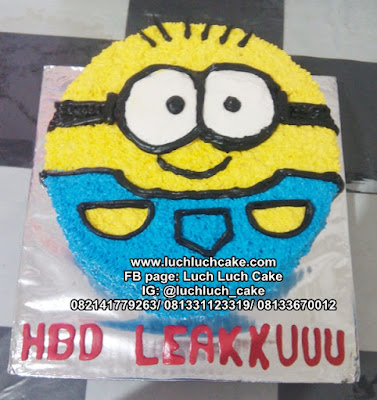 Minion Birthday Cake Buttercream