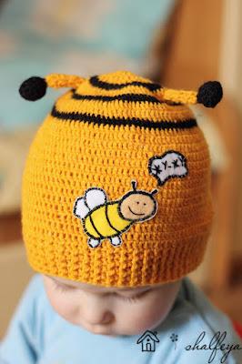шапочка детская пчелка