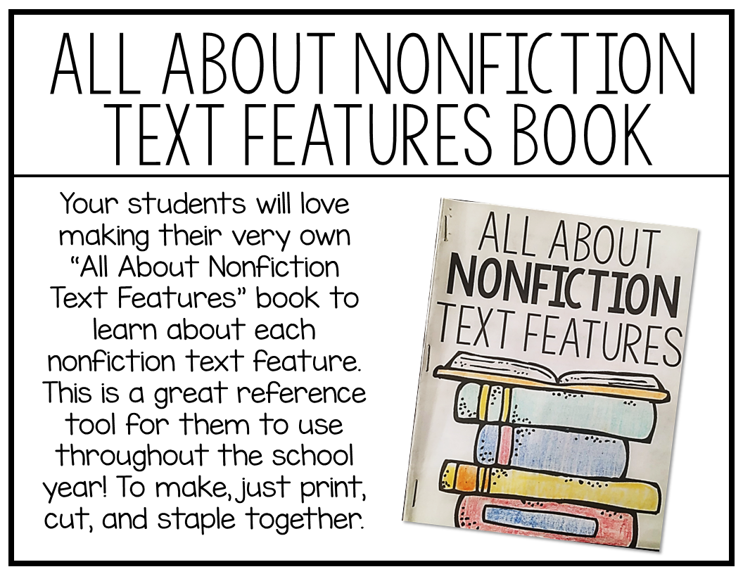 How To Make A Book Quiz : Teaching nonfiction text features free download included