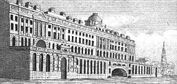 Somerset House from the Thames  from Leigh's New Picture of London (1827)