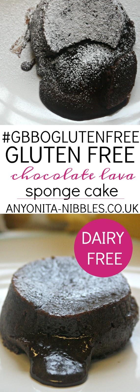 #GBBOGlutenFree Gluten Free Chocolate Lava Sponge Cake | Anyonita Nibbles