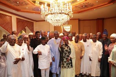 buhari10 - 9JA NEWS: #PMBAt75: Governors, Saraki, Dogara, Tinubu, Well-wishers surprise Buhari on his 75th Birthday