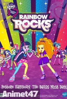 My Little Pony Equestria Girls: Rainbow Rocks - Những cô gái Equestria Phần 2 Nhạc hội cầu vồng 2014 Poster