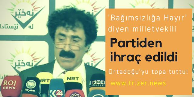 Ferhat Sengawi Kürdistan Bağımsızlık Referandumu Şimdilik Hayır İhraç YNK KYB