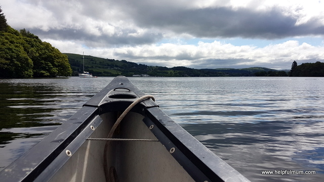Canoe on lake windermere
