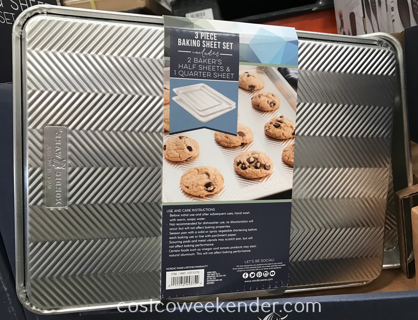 Costco 1071570 - Nordic Ware Natural Prism Baking Sheet Set (3 piece): great for any home baker