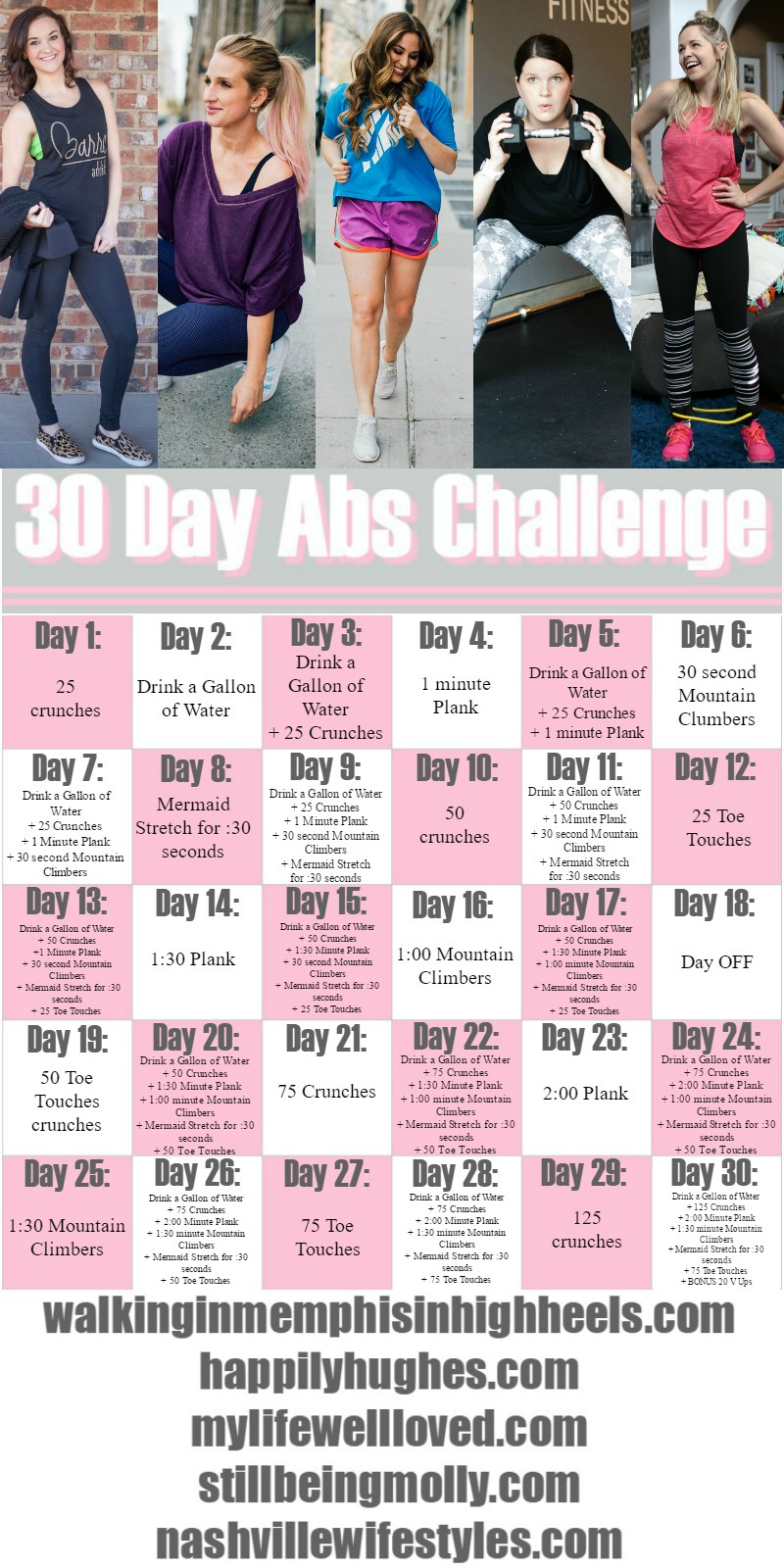 30 Day Ab Challenge Workout by lifestyle blogger Laura of Walking in Memphis in High Heels
