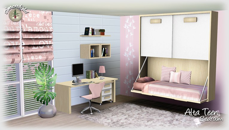 Empire Sims 3: Alta Teen Bedroom Set By Simcredible *FREE