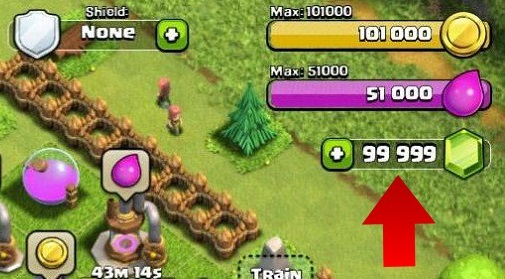 clash of clans hack gems and coins