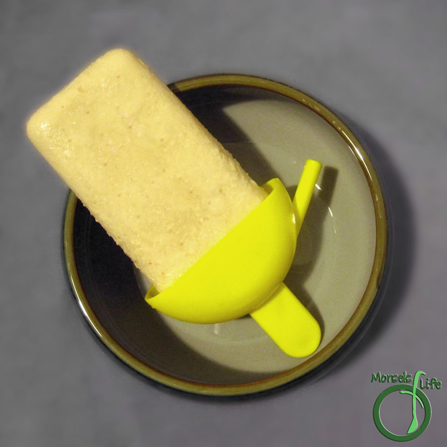 Morsels of Life - Creamy Coconut Popsicles - Decadently rich and creamy popsicles with bits of toasted coconut against a background of three milks.