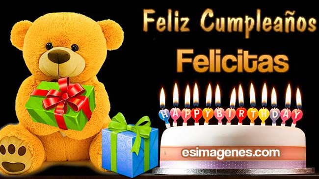 Feliz cumpleaños Felicitas