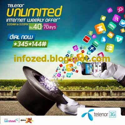 Telenor Unlimited 3G Internet Offer Latest