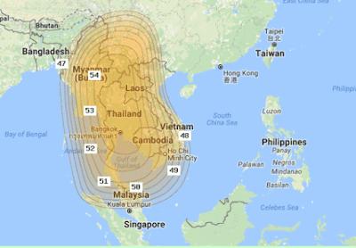 Hasil Tracking Thaicom Ku-band dengan Dish 80 cm Area Jateng