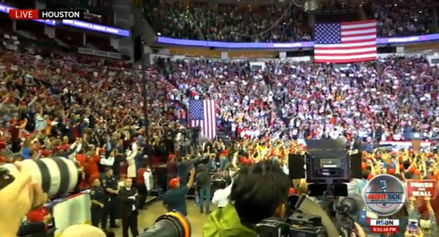 PHOTOS: MASSIVE CROWD AT TRUMP RALLY FOR TED CRUZ IN HOUSTON