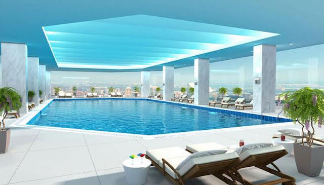 Bể bơi cao cấp tại dự án The Artemis Lê Trọng Tấn