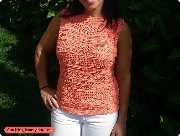 Con hilos, lanas y botones: Cancun Lace Boxy Top