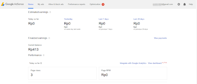 Akun Google Adsense Non Hosted.