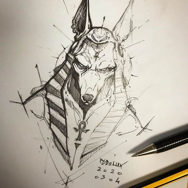 06-Anubis-jackal-Psdelux-Animal-Drawings-www-designstack-co