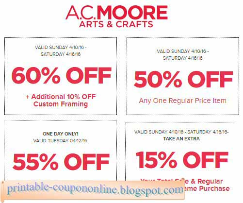 I need a coupon for ac moore