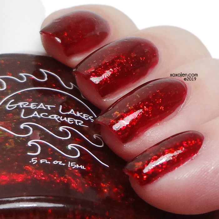 xoxoJen's swatch of Great Lakes Lacquer The Exiled Prince