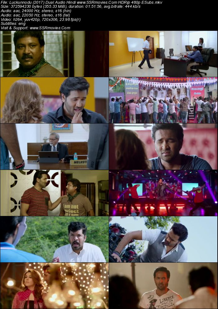 Luckunnodu 2017 UNCUT Hindi Dual Audio HDRip 480p 350MB 720p 850MB