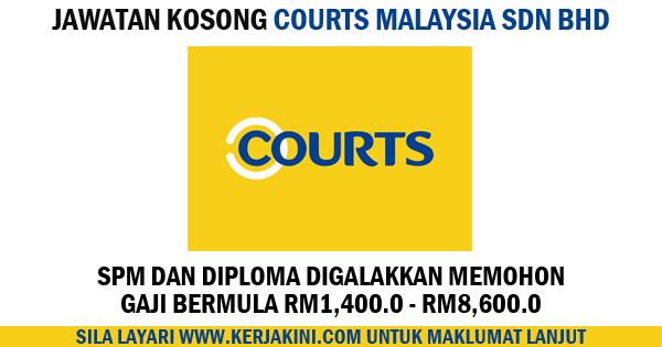 jawatan kosong courts malaysia sdn bhd