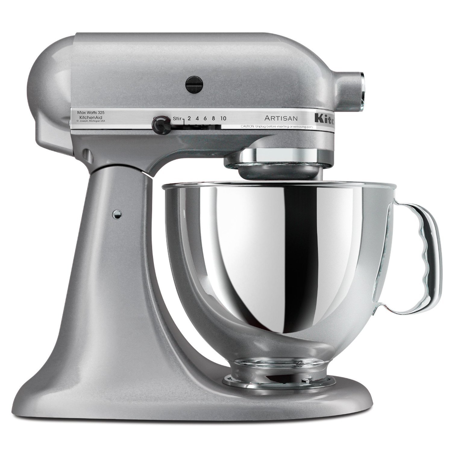LittleKitchenShop KitchenAid Stand Mixer Artisan Series 5Quart In Black Silver Gray  White