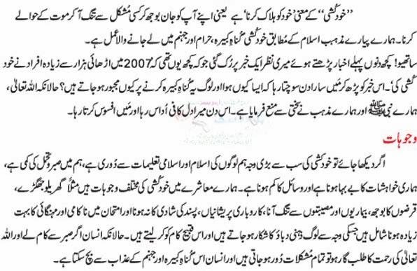 Khudkushi In Islam Urdu