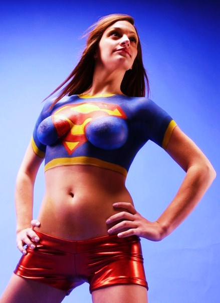Super Girl Body Paint Greatswimsuits