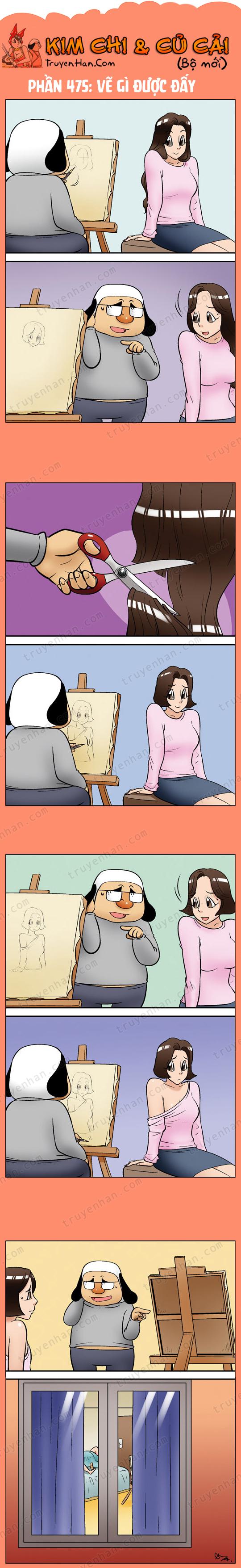 Kim Chi & Củ Cải (bộ mới) phần 475: Vẽ gì được đấy