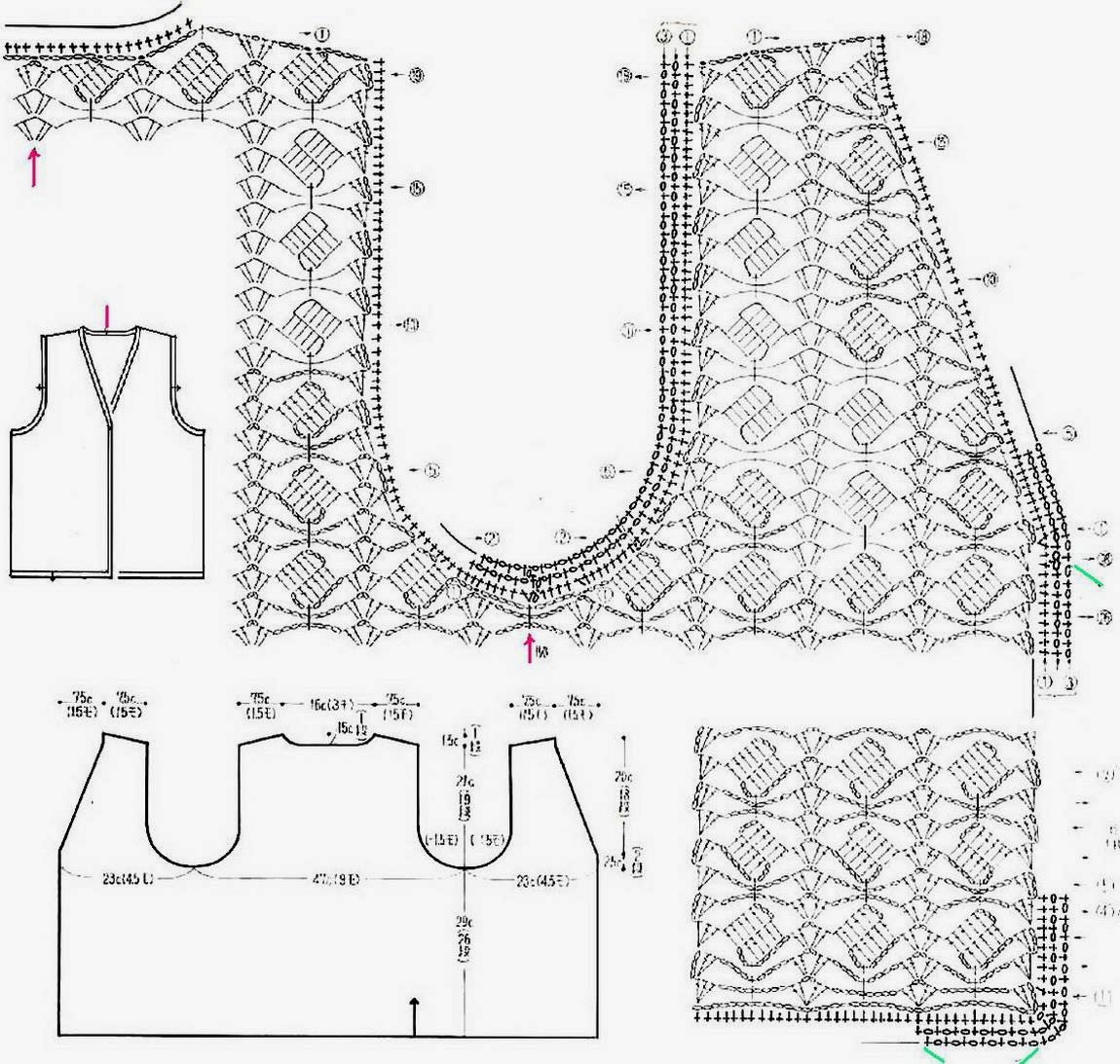 Crochet Sweaters Crochet Vest Pattern