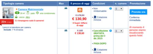 booking.com condizioni di pagamento