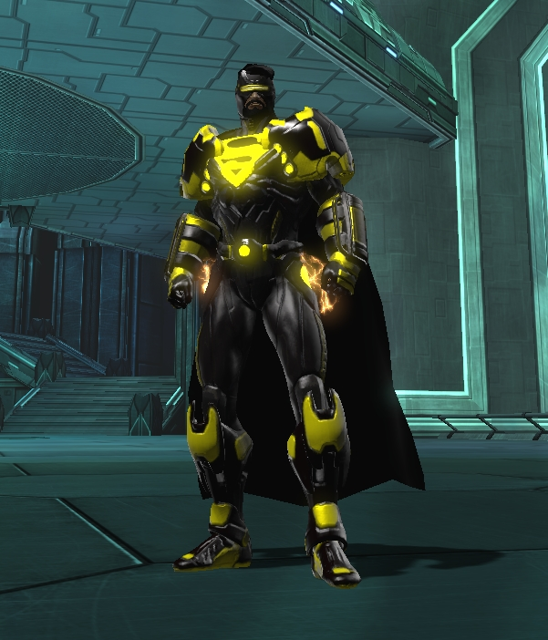 Pinkys Blog Dcuo Black And Yellow Color Superman Style
