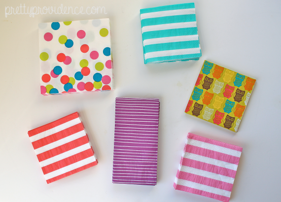 buy the good napkins when you see them! and more tips on how to start a party supply stockpile on a budget, and why it pays to have one.