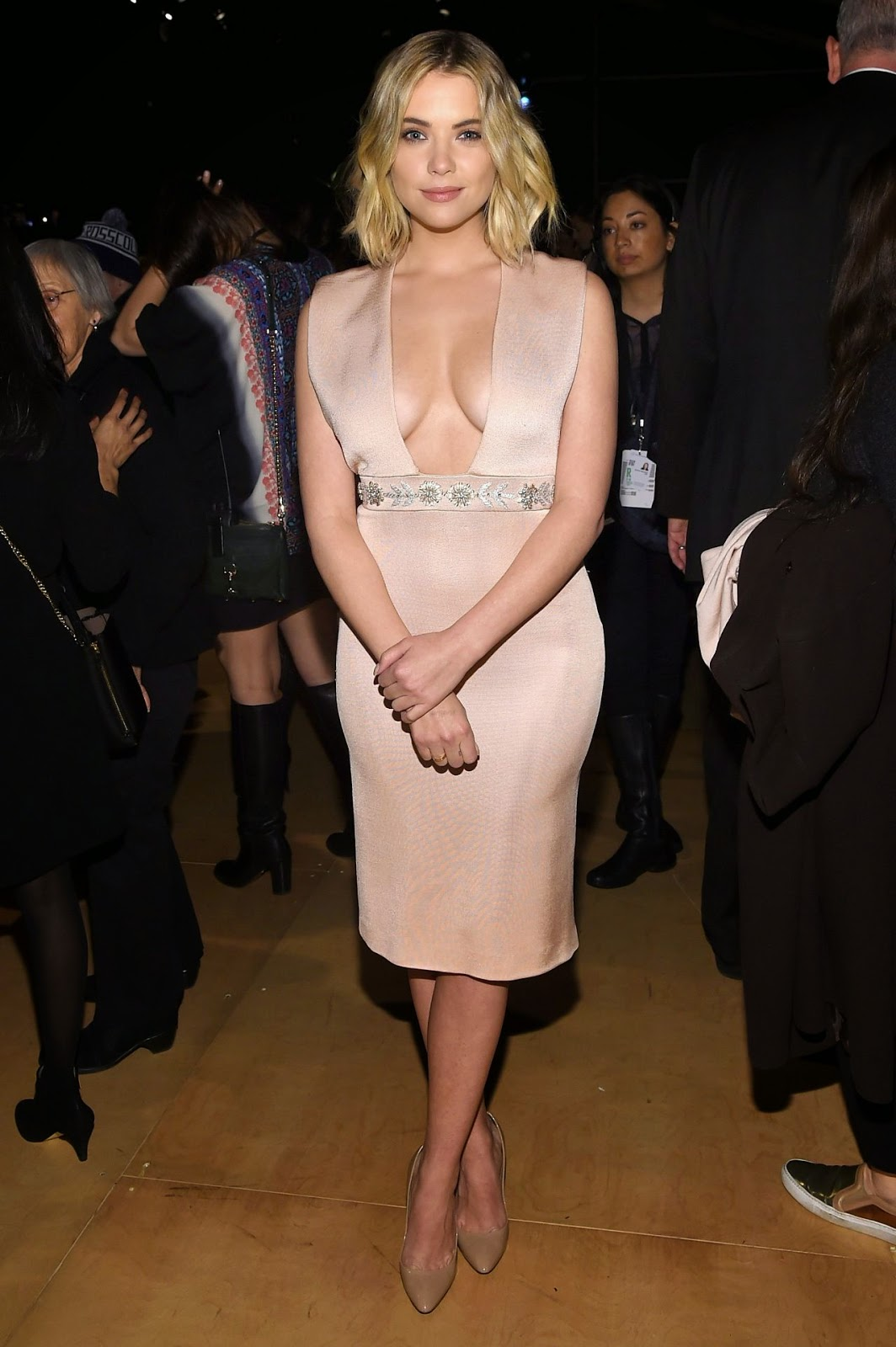 Ashley Benson – Reem Acra Fashion Show