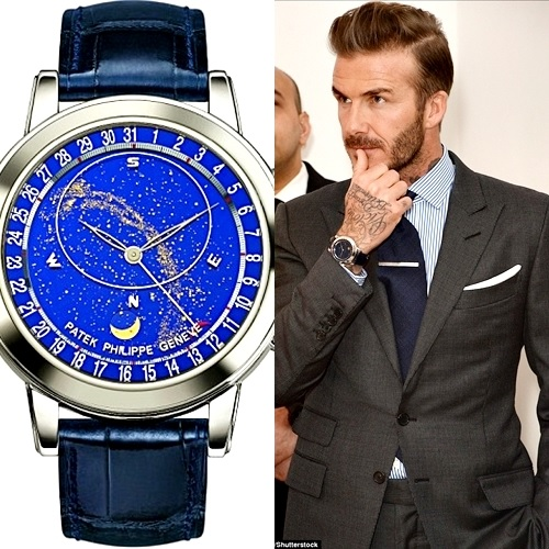 Football Star, David Beckham Shows off His N56.9million Luxury Watch at Charity Event (Photos)