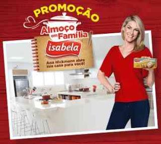 Cadastrar Promoção Isabela Almoço em Família Ana Hickmann Carro Zero Kits Tramontina
