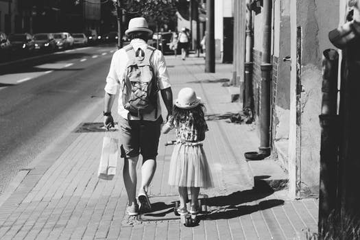 father guide their daughter