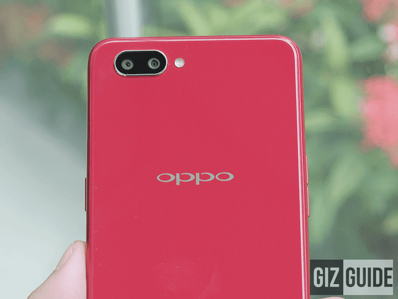 The OPPO A3s has a dual rear camera setup