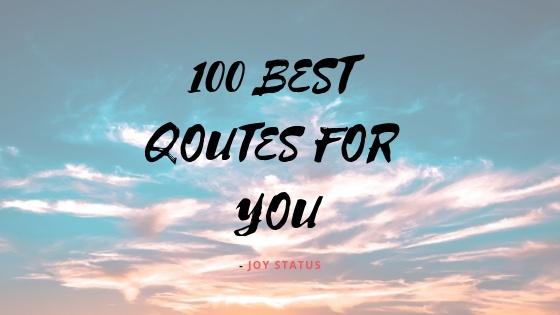 Best Qoutes Top 100