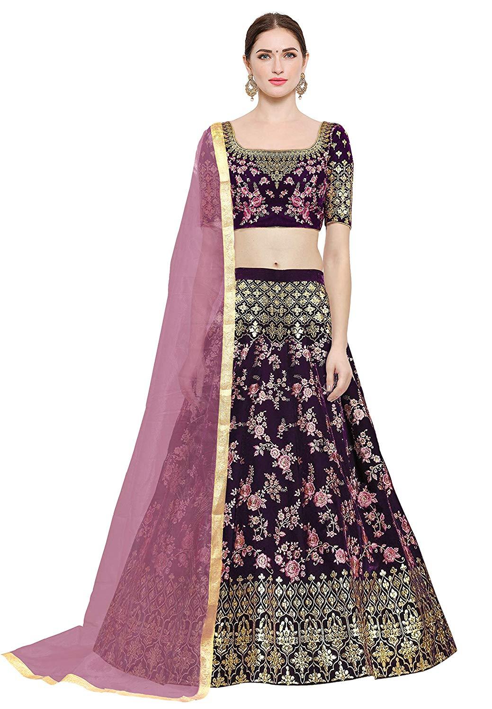 Purple and pink lehenga for weddings