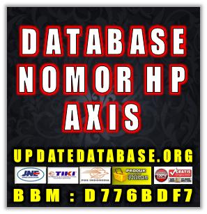 Jual Database Nomor Handphone Khusus Operator Axis
