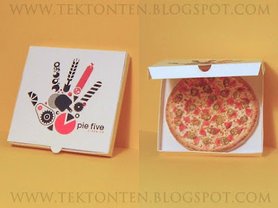 Pie Five Pizza Paper Toy