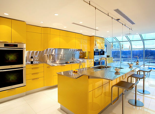 using different colors in your kitchen