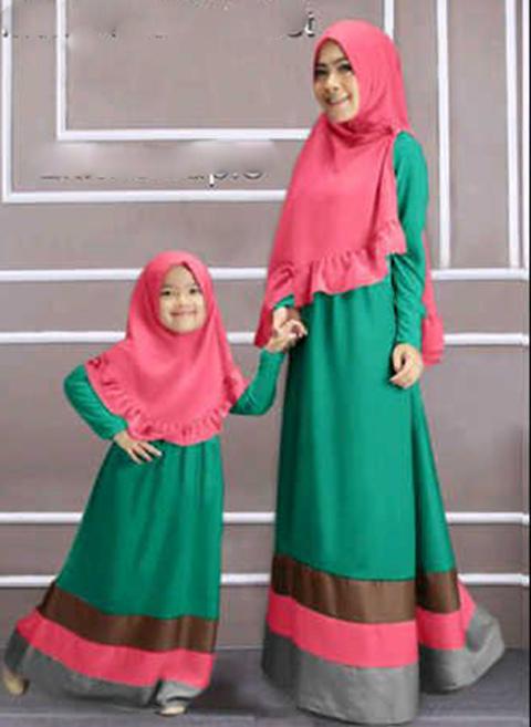 baju muslim ibu dan anak kembaran