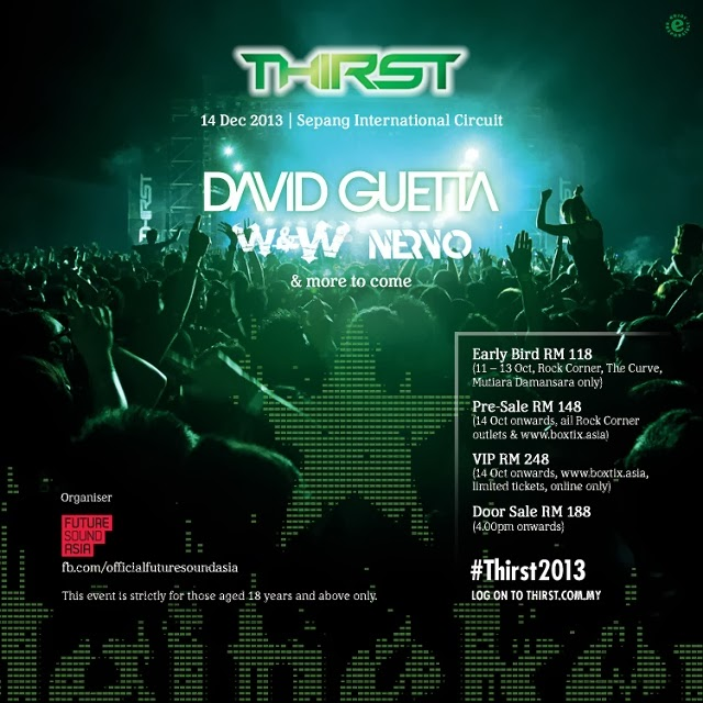 Heineken Thirst 2013: David Guetta To Headline